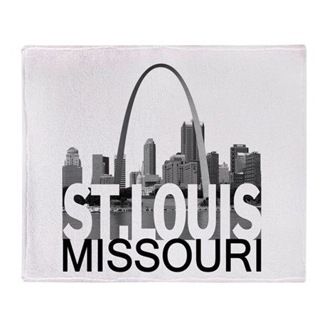 St. Louis Skyline Throw Blanket