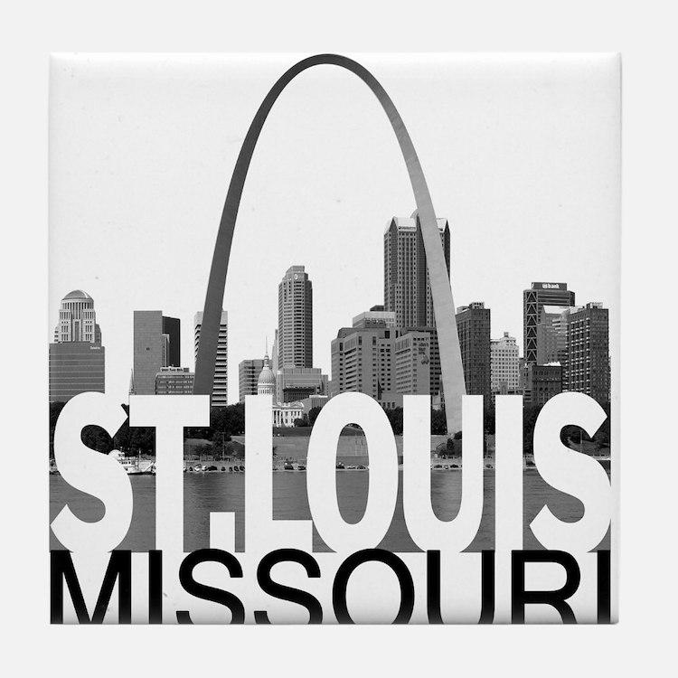 St. Louis Skyline Tile Coaster