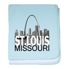 St. Louis Skyline baby blanket