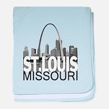 St. Louis Skyline baby blanket