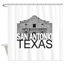 San Antonio Skyline Shower Curtain