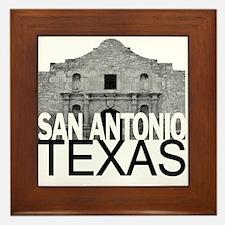 San Antonio Skyline Framed Tile