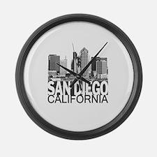San Diego Skyline Large Wall Clock