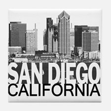 San Diego Skyline Tile Coaster