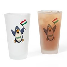 Hungary Penguin Drinking Glass