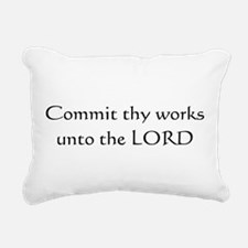 Commit thy works unto the Lord Rectangular Canvas
