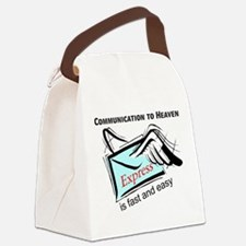 Communication to heaven Canvas Lunch Bag