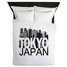 Tokyo Skyline Queen Duvet