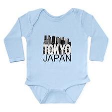 Tokyo Skyline Long Sleeve Infant Bodysuit
