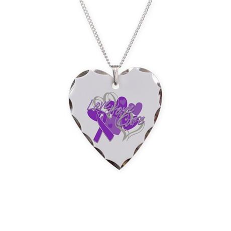 Alzheimer's Disease Love Hope Cure Necklace Heart
