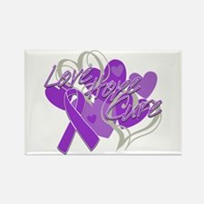 Alzheimer's Disease Love Hope Cure Rectangle Magne