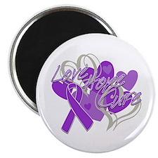 "Alzheimer's Disease Love Hope Cure 2.25"" Magnet (1"
