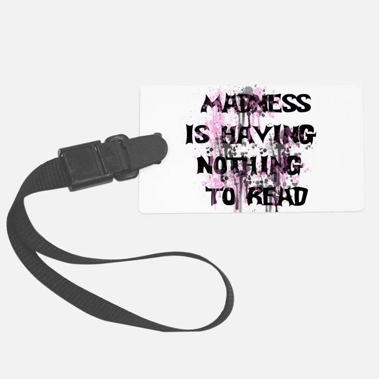 Reading Madness Luggage Tag