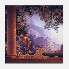 Maxfield Parrish Daybreak Tile Coaster