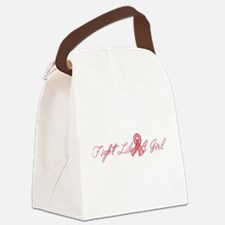 fightgirlbig.png Canvas Lunch Bag