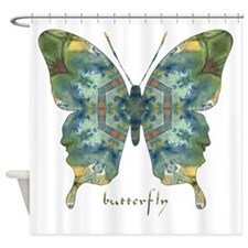 Abundance Butterfly Shower Curtain