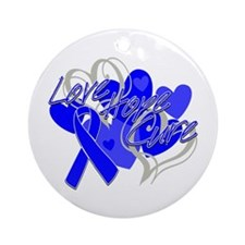 Anal Cancer Love Hope Cure Ornament (Round)