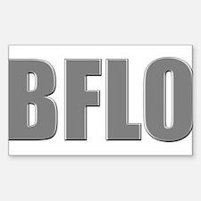 Buffalo Abbreviated Sticker (Rectangle)