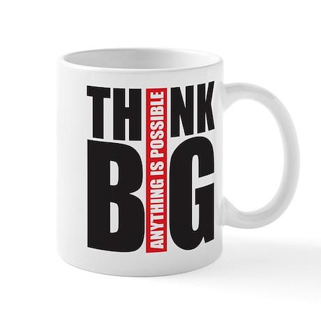 think big black and red Mug