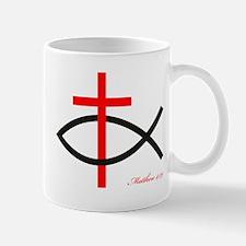 cross and fish Mug