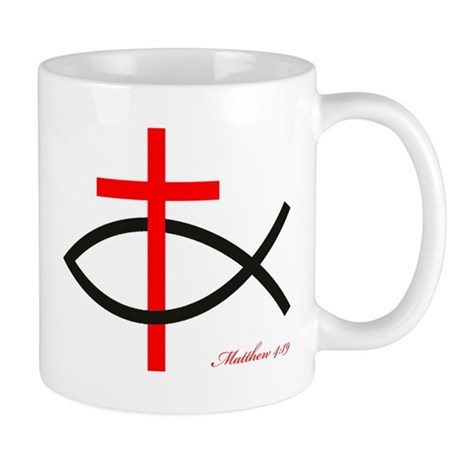 cross and fish Mug