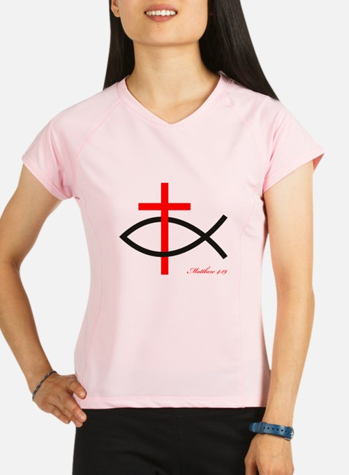 cross and fish Performance Dry T-Shirt