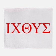 cross and fish Throw Blanket