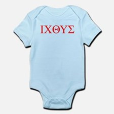 cross and fish Infant Bodysuit