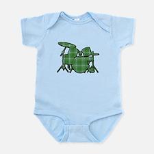 Plaid Drumset Infant Bodysuit