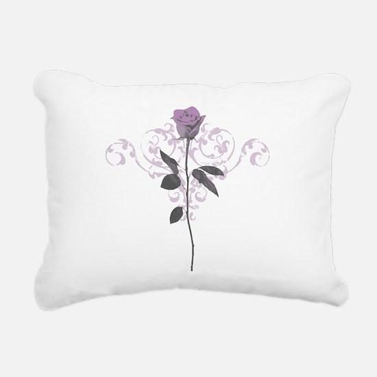 Vintage Lilac Rose Rectangular Canvas Pillow