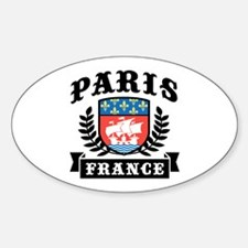Paris France Oval Decal