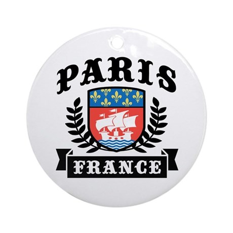 Paris France Ornament (Round)