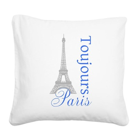 Paris Toujours Square Canvas Pillow