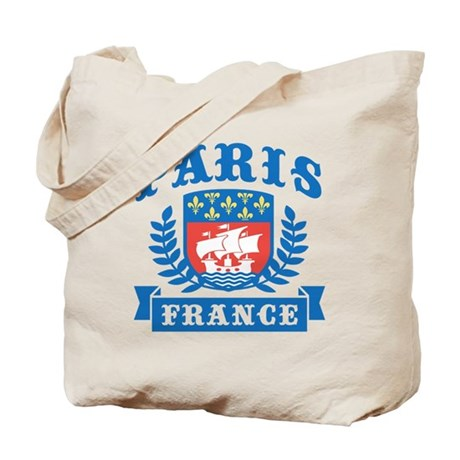 paris france tote bag by niftetees. Black Bedroom Furniture Sets. Home Design Ideas