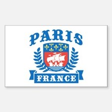 Paris France Rectangle Decal