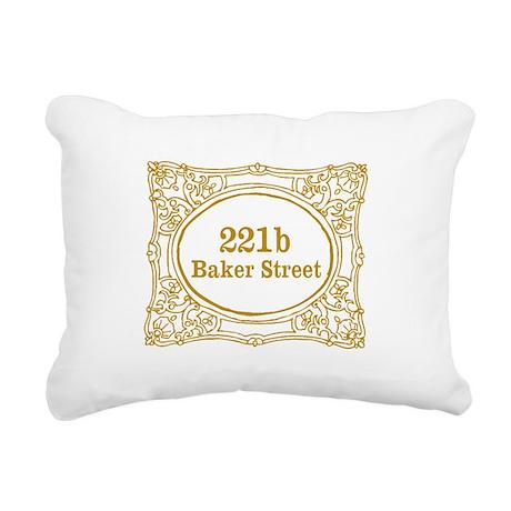 221b Baker Street Rectangular Canvas Pillow