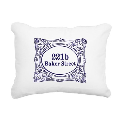 221b Baker Street Rectangular Canvas Pillow