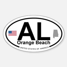 Orange Beach Sticker (Oval)