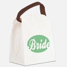 MINT GREEN OVAL BRIDE.png Canvas Lunch Bag