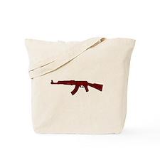 Grunge AK-47 Tote Bag