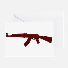 Grunge AK-47 Greeting Card