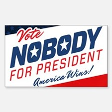 Nobody for President Decal
