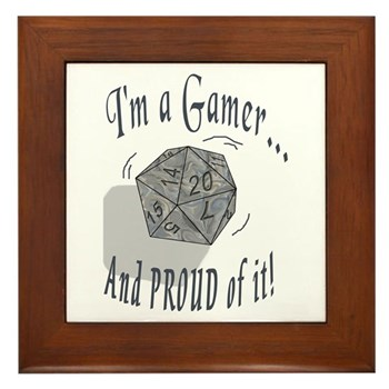Proud Gamer Framed Tile