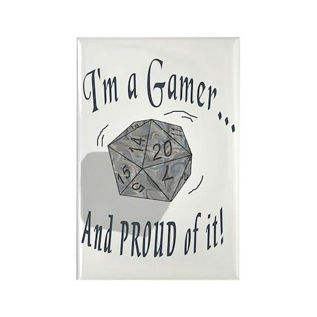 Proud Gamer Rectangle Magnet