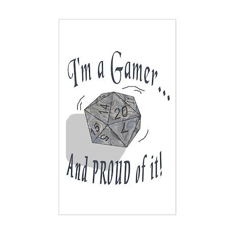 Proud Gamer Rectangle Sticker