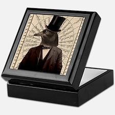 Victorian Steampunk Gentleman Crow Keepsake Box