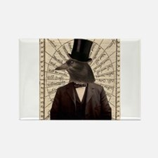 Victorian Steampunk Gentleman Crow Rectangle Magne