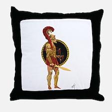 GREEK WARRIOR Throw Pillow