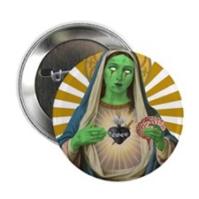 """Virgin Mary Gone Zombie 2.25"""" Button"""