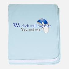 We click together baby blanket